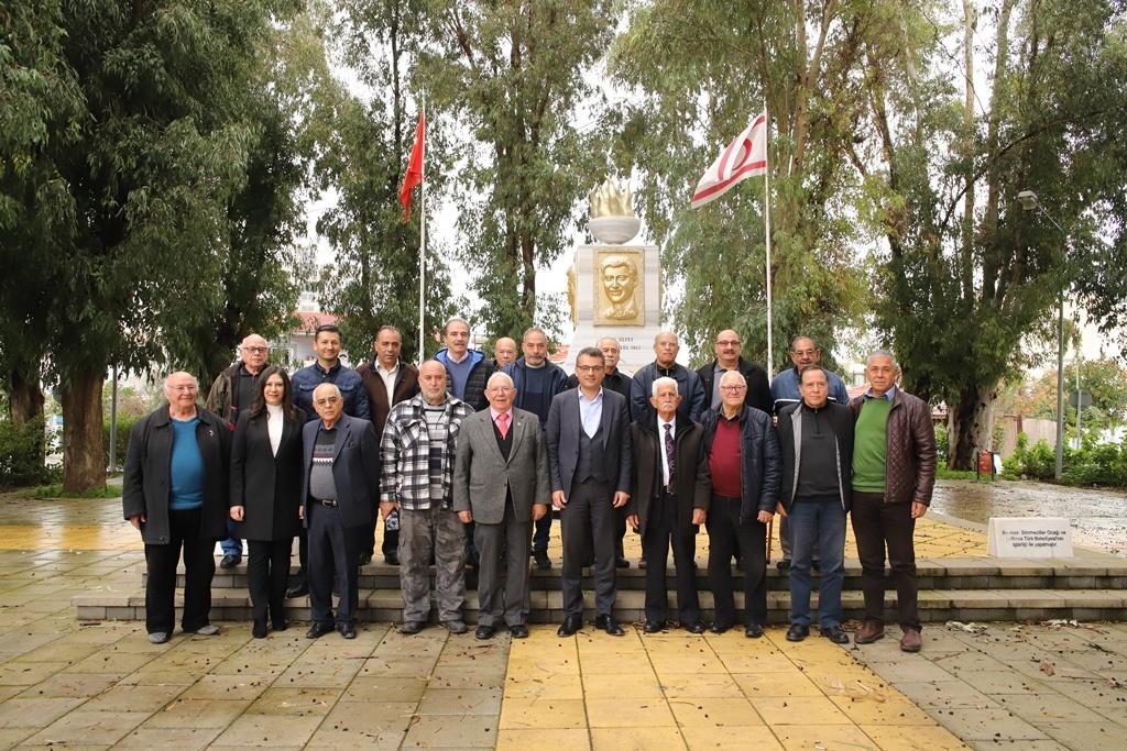 Erhürman, Sönmezliler Ocağı ve Küçük Kaymaklı Türk Spor Kulübü'nü ziyaret etti